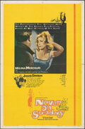"""Movie Posters:Foreign, Never on Sunday (Lopert, 1960). Folded, Overall: Fine+. One Sheets (3) Identical (27"""" X 41""""). Foreign.. ... (Total: 3 Items)"""