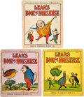 Books:Children's Books, [Edward Lear]. Three Issues of Lear's Book of Nonsense. London: Frederick Warne & Co., [ca. 1860s]. Aunt Louisa's Lo... (Total: 3 Items)