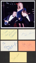 Movie/TV Memorabilia:Autographs and Signed Items, The Fabulous Baker Boys Collection of Signatures (5). ...