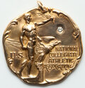 1930 NCAA Gold Medal, 1st Prize 880 Yard Run, Uncertified. 20.98 grams. 14 karat gold. Maker is Dieges & Clust. The...