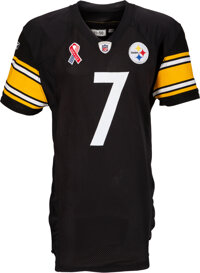 2011 Ben Roethlisberger Game Worn & Signed Pittsburgh Steelers Jersey with 9/11 Ten Year Anniversary Patch--NFL Auct...