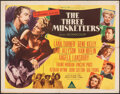 "Movie Posters:Swashbuckler, The Three Musketeers (MGM, 1948). Folded, Fine. Half Sheets (2) (22"" X 28"") Styles A & B. Swashbuckler.. ... (Total: 2 Items)"