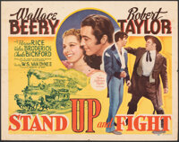 """Stand Up and Fight & Other Lot (MGM, 1939). Folded, Overall: Fine/Very Fine. Half Sheets (2) (22"""" X 28"""") &..."""