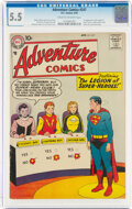 Silver Age (1956-1969):Superhero, Adventure Comics #247 (DC, 1958) CGC FN- 5.5 Cream to off-white pages....