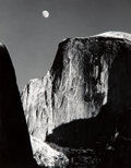 Photographs, Ansel Adams (American, 1902-1984). Moon and Half Dome, Yosemite National Park, California, 1960. Gelatin silver, printed...