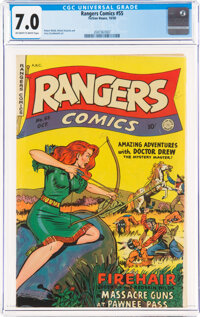 Rangers Comics #55 (Fiction House, 1950) CGC FN/VF 7.0 Off-white to white pages