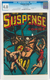 Suspense Comics #8 (Continental Magazines, 1945) CGC VG 4.0 Off-white pages