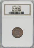 Proof Indian Cents, 1887 1C PR66 Red and Brown NGC....