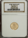 Modern Bullion Coins: , 2000 G$5 Tenth-Ounce Gold Eagle MS70 NGC. PCGS Population (26/0).Numismedia Wsl. Price for NGC/PCGS co...