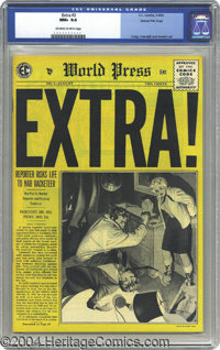Extra! #3 Gaines File pedigree 10/12 (EC, 1955) CGC NM+ 9.6 Off-white to white pages. Johnny Craig art dominates this is...