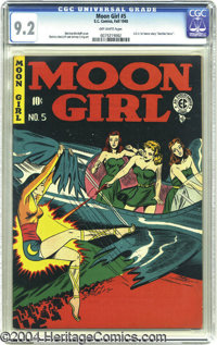 Moon Girl #5 (EC, 1948) CGC NM- 9.2 Off-white pages. This unusual EC title changed formats from sci-fi to crime to roman...