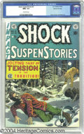 Golden Age (1938-1955):Horror, Shock SuspenStories #3 Gaines File pedigree 3/12 (EC, 1952) CGC NM+9.6 Off-white pages. Wally Wood's biting cover will make...