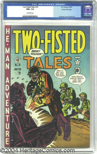 Two-Fisted Tales #19 Gaines File pedigree 3/10 (EC, 1951) CGC NM+ 9.6 Off-white pages. The one-and-only Harvey Kurtzman...