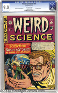 Golden Age (1938-1955):Science Fiction, Weird Science 12 (#1) (EC, 1950) CGC VF/NM 9.0 Off-white pages. Thefirst issue of this great series sports a classic cover ...