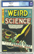 Golden Age (1938-1955):Science Fiction, Weird Science #5 Gaines File pedigree 8/10 (EC, 1951) CGC NM/MT 9.8Off-white pages. One of the defining covers in EC's lege...