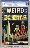 Golden Age (1938-1955):Science Fiction, Weird Science #7 (EC, 1951) CGC NM 9.4 Off-white pages. This AlFeldstein cover gives us a taste of what fashionable space e...