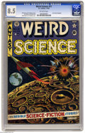 Golden Age (1938-1955):Science Fiction, Weird Science #11 (EC, 1952) CGC VF+ 8.5 Off-white pages. A greatscene of outer-space combat on this cover drawn by Al Feld...