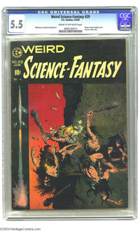 Weird Science-Fantasy #29 (EC, 1955) CGC FN- 5.5 Cream to off-white pages. Three words: Frank Frazetta cover. Need we sa...