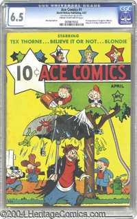 Ace Comics #1 (David McKay Publications, 1937) CGC FN+ 6.5 Cream to off-white pages. Four beloved features made their ve...