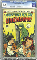 Golden Age (1938-1955):Horror, Adventures Into the Unknown #13 Northford pedigree (ACG, 1950) CGCVF+ 8.5 Cream to off-white pages. Ogden Whitney cover and...