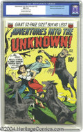 Golden Age (1938-1955):Horror, Adventures Into the Unknown #18 Diamond Run pedigree - Double Cover(ACG, 1951) CGC NM 9.4 Off-white to white pages. Ogden W...