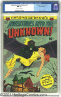 "Golden Age (1938-1955):Horror, Adventures Into the Unknown #23 White Mountain pedigree (ACG, 1951)CGC NM 9.4 Off-white pages. We could make a ""Bat-Man"" jo..."