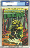 Golden Age (1938-1955):Horror, Adventures Into the Unknown #24 White Mountain pedigree (ACG, 1951)CGC NM 9.4 White pages. A comic book swamp just isn't co...