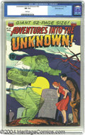 Golden Age (1938-1955):Horror, Adventures into the Unknown #30 White Mountain pedigree (ACG, 1952)CGC NM 9.4 White pages. The men of Adventure into the ...