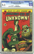 Golden Age (1938-1955):Horror, Adventures Into the Unknown #34 River City pedigree (ACG, 1952) CGCVF+ 8.5 Off-white pages. Cool voodoo/witch doctor cover ...
