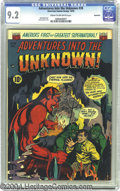 Golden Age (1938-1955):Horror, Adventures Into the Unknown #38 Northford pedigree (ACG, 1952) CGCNM- 9.2 Cream to off-white pages. This high-grade ACG hor...