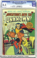 Golden Age (1938-1955):Horror, Adventures Into the Unknown #41 Spokane pedigree (ACG, 1953) CGCVF+ 8.5 Off-white to white pages. Ken Bald cover. This is t...