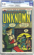 Golden Age (1938-1955):Horror, Adventures Into the Unknown #66 Northford pedigree (ACG, 1955) CGCVF/NM 9.0 Off-white to white pages. Shades of Mark Twain!...