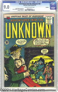 Adventures Into the Unknown #66 Northford pedigree (ACG, 1955) CGC VF/NM 9.0 Off-white to white pages. Shades of Mark Tw...