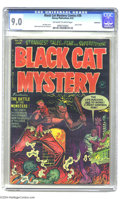 Golden Age (1938-1955):Horror, Black Cat Mystery #36 Bethlehem pedigree (Harvey, 1952) CGC VF/NM9.0 Off-white to white pages. A gripping Lee Elias cover f...