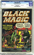 Golden Age (1938-1955):Horror, Black Magic V2#2 Bethlehem pedigree (Prize, 1951) CGC VF/NM 9.0Cream to off-white pages. Jack Kirby mastered every genre he...