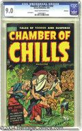 Golden Age (1938-1955):Horror, Chamber of Chills #23 (#3) Bethlehem pedigree (Harvey, 1951) CGCVF/NM 9.0 Cream to off-white pages. This pre-Code horror bo...