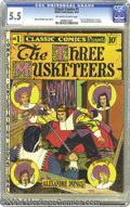 Golden Age (1938-1955):Classics Illustrated, Classic Comics #1 The Three Musketeers - First Edition (Gilberton, 1941) CGC FN- 5.5 Off-white to white pages. This is the f...
