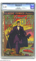Golden Age (1938-1955):Classics Illustrated, Classic Comics #3 The Count of Monte Cristo - First Edition(Gilberton, 1942) CGC GD/VG 3.0 Off-white pages. Original Editio...