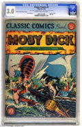 Golden Age (1938-1955):Classics Illustrated, Classic Comics #5 Moby Dick - First Edition (Gilberton, 1942) CGCGD/VG 3.0 Cream to off-white pages. Original Edition. Inte...
