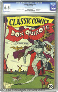 Golden Age (1938-1955):Classics Illustrated, Classic Comics #11 Don Quixote - First Edition (Gilberton, 1943)CGC FN+ 6.5 Cream to off-white pages. Original Edition. Lou...