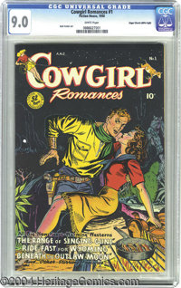 Cowgirl Romances #1 Mile High pedigree (Fiction House, 1950) CGC VF/NM 9.0 White pages. This is another exceptional exam...
