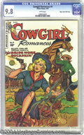 Golden Age (1938-1955):Romance, Cowgirl Romances #4 Mile High pedigree (Fiction House, 1951) CGCNM/MT 9.8 White pages. In the 1950s romance comics were pop...