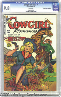 Cowgirl Romances #4 Mile High pedigree (Fiction House, 1951) CGC NM/MT 9.8 White pages. In the 1950s romance comics were...