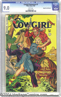Golden Age (1938-1955):Western, Cowgirl Romances #9 Mile High pedigree (Fiction House, 1952) CGCVF/NM 9.0 White pages. There's more cowgirl romance in this...