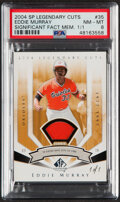 Baseball Cards:Singles (1970-Now), 2004 SP Legendary Cuts Significant Fact Memorabilia Eddie Murray Jersey Relic #35 PSA NM-MT 8 - One of One!...