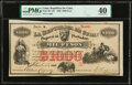 World Currency, Cuba Republica de Cuba 1000 Pesos 6.9.1869 Pick 60 PMG Extremely Fine 40.. ...