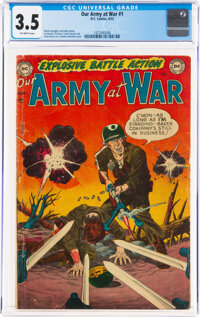 Our Army at War #1 (DC, 1952) CGC VG- 3.5 Off-white pages