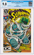 Modern Age (1980-Present):Superhero, Superman: The Man of Steel #18 Fifth Printing (DC, 1992) CGC NM/MT 9.8 White pages....