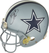 1998-99 Emmitt Smith Game Worn & Signed Dallas Cowboys Helmet