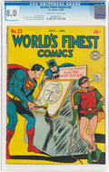 Golden Age (1938-1955):Superhero, World's Finest Comics #23 (DC, 1946) CGC VF 8.0 Off-white to white pages....